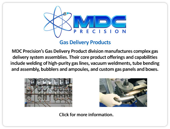 MDC Gas Delivery Products